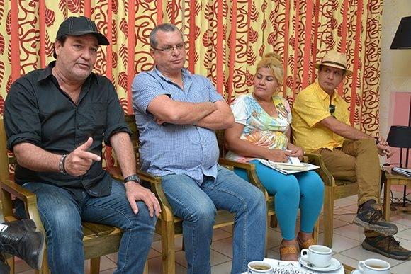 Conferencia de prensa del comité organizador del Festival Internacional de Cine de Gibara, efectuada en el salón del protocolo del teatro Eddy Suñol, de la ciudad de Holguín, Cuba, el 24 de febrero de 2017. ACN FOTO/ Juan Pablo CARRERAS/ rrcc