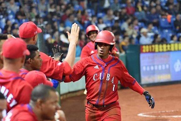 Roel Santos fue otra vez el mejor de los cubanos, pero Corea del Sur derrotó 6-1 a la Isla en partido preparatorio a Clásico Mundial. Foto: Foto: Yuhki Ohboshi.