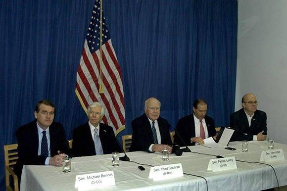 La delegación de congresistas norteamericanos que visita Cuba presidida por el senador demócrata Patrick Leahy ratificó hoy el deseo de la mayoría de los miembros del Capitolio de consolidar las relaciones entre Estados Unidos y la nación caribeña