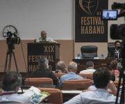 Enrique Babot Espinosa, Director de Marketing Operativo de Habanos, en conferencia de prensa con motivo del Festival de Habano 2017, en el Palacio de las Convenciones. Foto: PL
