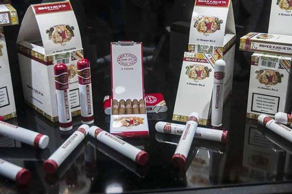 Stand de la marca de tabaco Romeo y Julieta, durante el Festival del Habano. Foto: PL