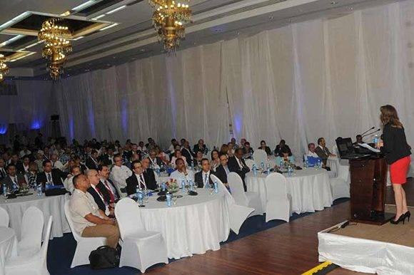 Asistentes a la Cumbre Cuba Oil & Gas 2017 en el Hotel Tryp Habana Libre para subrayar las perspectivas de negocios, tecnolog'ia y regulacion que estan surgiendo y que modelan la industria cubana del petroleo. La Habana. Foto: Prensa Latina.