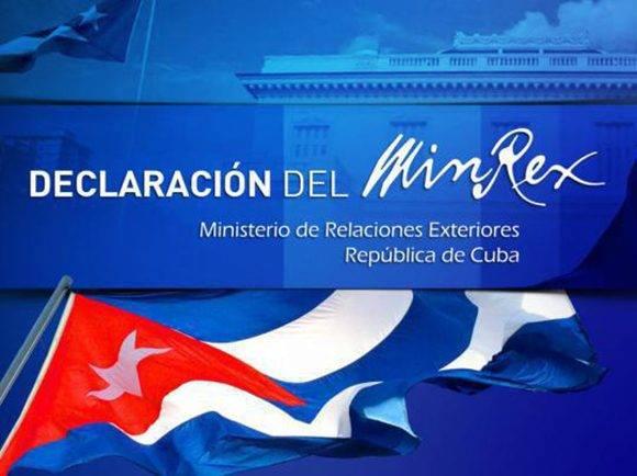 Declaración del Minrex: Cuba reitera solidaridad con Nicaragua