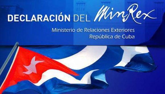 Declaración del Ministerio de Relaciones Exteriores de Cuba sobre reconocimiento por Estados Unidos de ciudad de Jerusalén como capital de Israel