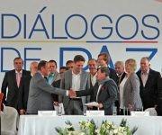 Los líderes de las delegaciones del diálogo se comprometieron a resolver diferencias. Foto: @CancilleriaEc.