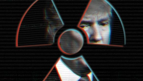 Donald Trump y el riesgo de una guerra nuclear. Ilustración: Joan Wong; Foto: Doug Mills/ The New York Times.