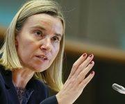 La derecha del Parlamento Europeo apoya a Trump, pero Federica Mogherini, jefa de la diplomacia europea ha concluido el debate diciendo que el bloque califica a a la política del presidente de EEUU como injusta e inmoral. Foto. Archivo.