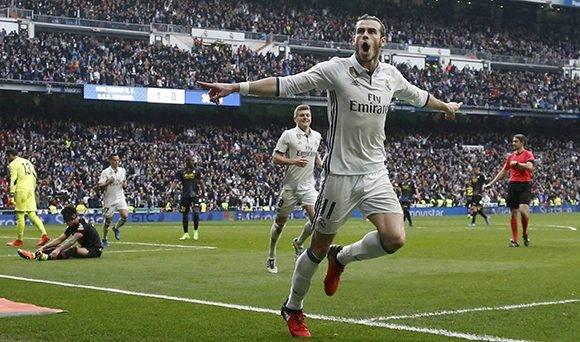Gareth Bale regresó al terreno de juego luego de una larga lesión y marcó un gol. Foto: Javier Barbancho/ Reuters.