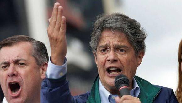 El banquero, Guillermo Lasso, candidato de la derecha ecuatoriana. Foto tomada de Infoabe.