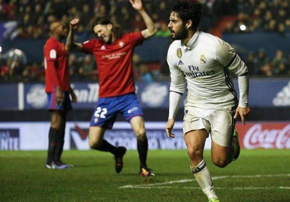 Isco mantuvo líder al Madrid gracias a su gol y buen juego. Foto: Susana Vera/ Reuters.
