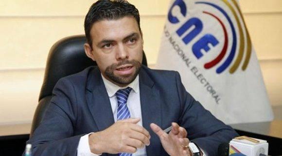 El presidente del CNE, Juan Pablo Pozo.