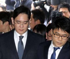 El presidente del grupo Samsung, Lee Jae Yong. Foto: AFP.