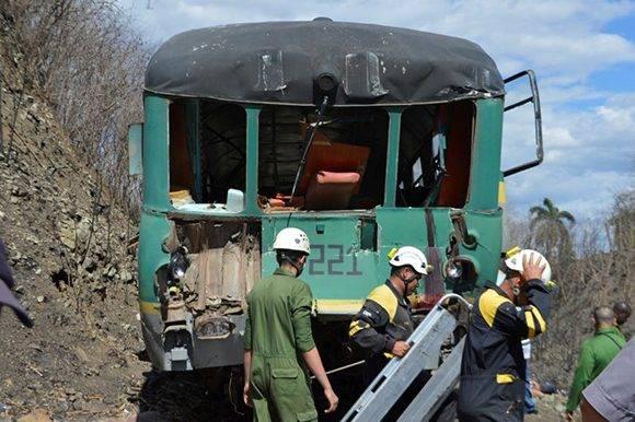 Los fallecidos iban a bordo del coche-motor. Foto: Carlos Luis Sotolongo/ Escambray.