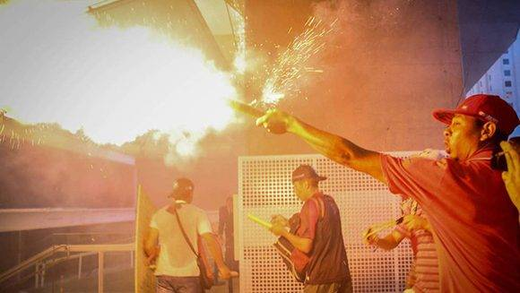 Manifestantes en São Paulo. Foto: Fernando Bizzerra/ EFE.