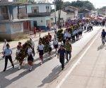 Homenaje en toda Cuba a nuestros líderes históricos. Foto: Jorge Luis Guibert/ Juventud Rebelde.