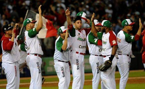 Los Águilas de Mexicali, ganan la semifinal contra los Alazanes de Cuba, en la LIX Serie del Caribe de Béisbol, en el estadio Tomateros de Culiacán, México, el 6 de febrero de 2017. ACN FOTO/Ricardo LÓPEZ HEVIA/sdl