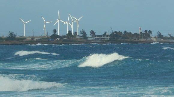 Parque eólico en Gibara. Foto: Danier Ernesto González.