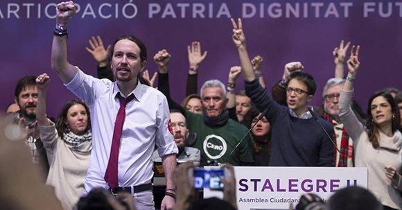 Pablo Iglesias relegido al frente de Podemos. Foto: Santi Burgos.
