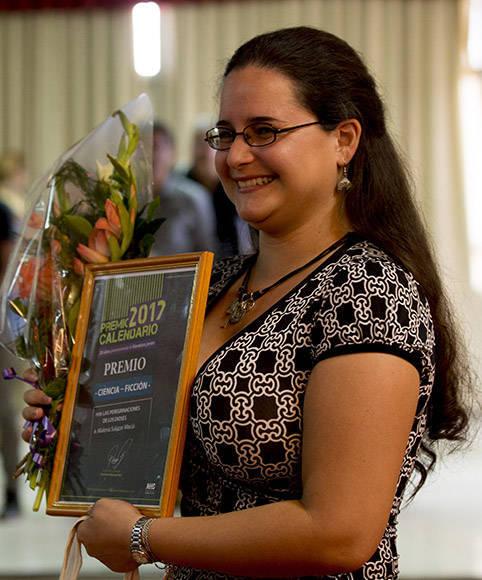 Malena Salazar, Premio Calendario 2017 en ciencia ficción. Foto: Ismael Francisco/ Cubadebate.