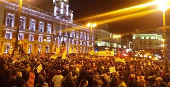 Marcha de la Dignidad en la Puerta del Sol. Foto: Público.