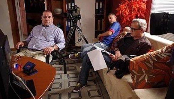 """Durante la grabación de """"En tiempos de amar"""". Foto: Cortesía del entrevistado."""