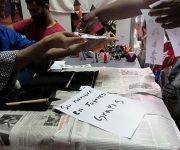 La caligrafía japonesa atrae la atención del público. Foto: Cinthya García Casañas/ Cubadebate.