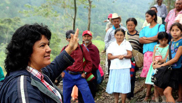 Cáceres recibió en 2015 el premio medioambiental Goldman. Foto: BBC