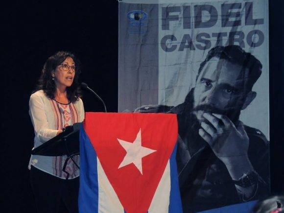 Tribute to Fidel Castro in Madrid