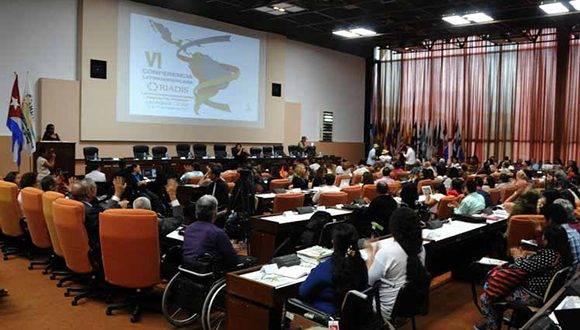 Conferencia de la Red Latinoamericana de Organizaciones No Gubernamentales de personas con discapacidad. Foto: Prensa Latina.
