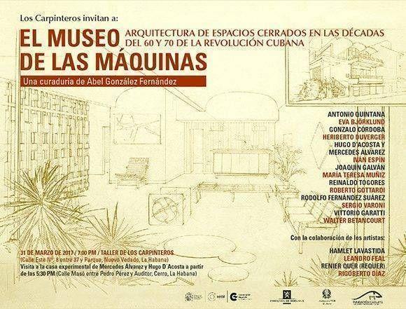 La exposición El Museo de las Máquinas quedará inaugurada hoy. Imagen cortesía del curador Abel González.
