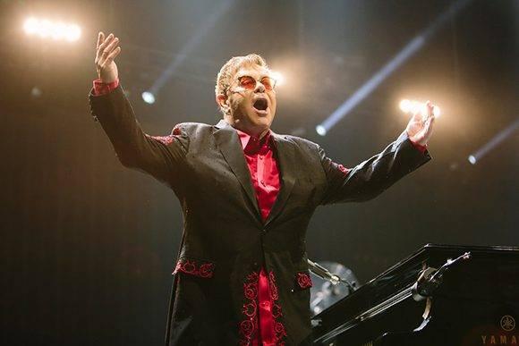 Elton John durante uno de sus conciertos de la gira Wonderful Crazy Night Tour 2017 en Montana State University, el 8 de marzo de 2017. Credit Adrian Sanchez-Gonzalez/Montana State University.