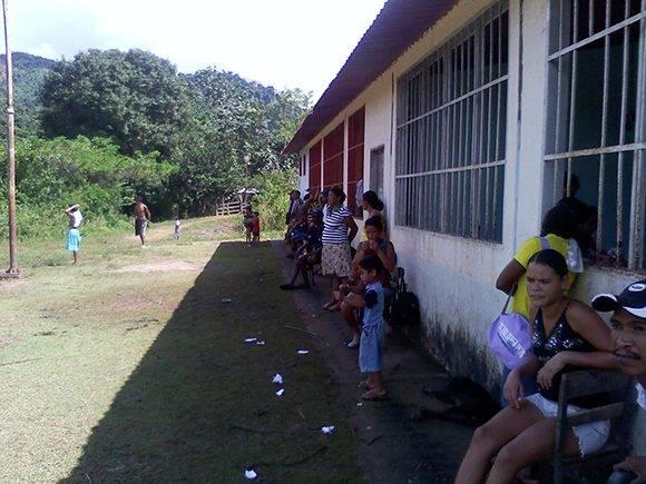 En este lugar convivieron los cinco días con la comunidad. Foto: Archivo personal del entrevistado.