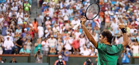 Federer avanza a las semifinales de Indian Wells donde enfrentará a Nick Kyrgios, vencedor sobre Novak Djokovic. Foto: Live Brunskill/ AFP.