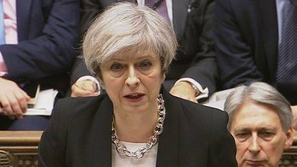 La primera ministra británica, Theresa May. Foto: Reuters.