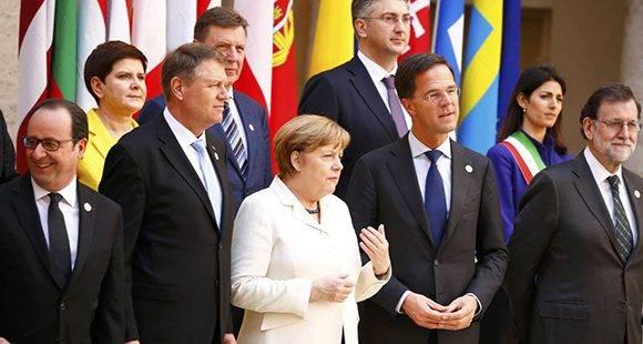 Declaración de Roma: La Unión Europea decide su futuro tras el 'Brexit'. Foto: Reuters.