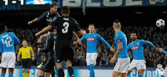 Segundo gol de Sergio Ramos. Foto: @RealMadrid/ Twitter.
