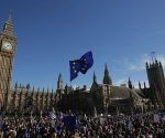 Manifestación contra el Brexit, junto al Parlamento británico. Foto: Daniel Leal-Olivas/ AFP.