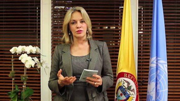 María Emma Mejía, representante permanente de Colombia en la ONU. Foto tomada de Zona Cero.