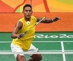 El cubano Osleini Guerrero, compite en Bádminton, en los XXXI Juegos Olimpicos de Rio de Janeiro, en Riocentro, Brasil, el 14 de agosto de 2014. ACN FOTO/Marcelino VÁZQUEZ HERNÁNDEZ