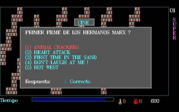 Pantalla de pregunta. Fotograma del videojuego.
