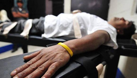 Un preso antes de recibir la inyección letal. Foto: EFE/ Archivo
