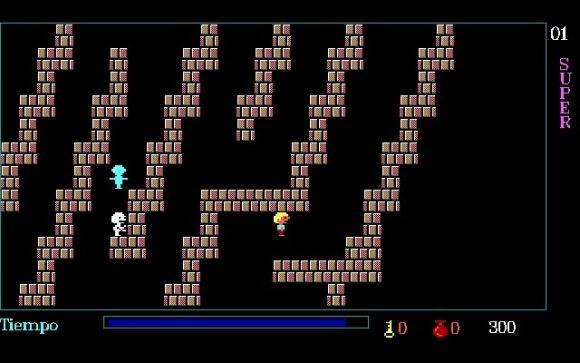 Primer laberinto. Fotograma del videojuego.