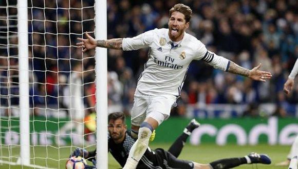 Sergio Ramos celebra el gol de la victoria. Foto tomada de Marca.