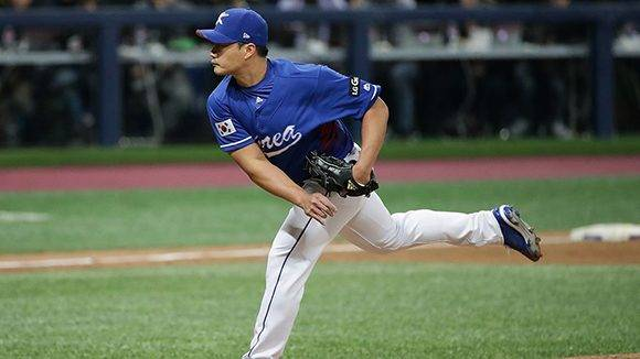 Seung Hwan Oh, lanzador de Corea del Sur. Foto: @WBCBaseball / Twitter.