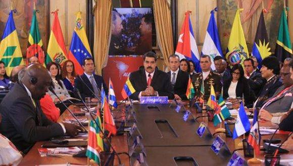Sesiona en Venezuela la XIV Cumbre ALBA-TPC. Foto: @DPresidencia/ Twitter.