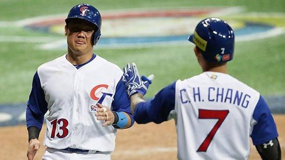 Yung-Chi Chen empató el juego para China Taipéi, pero en extrainnings Corea ganó 11-8. Foto: @WBCBaseball / Twitter.