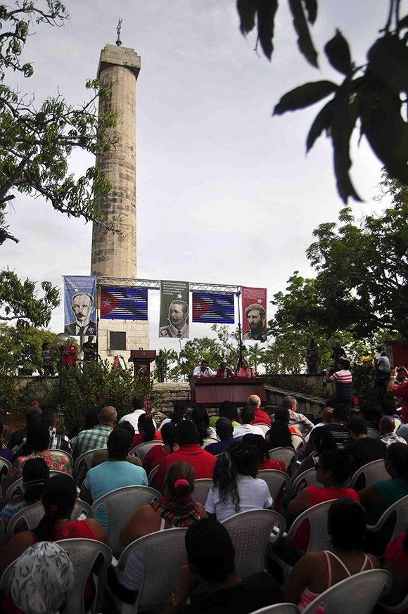 """Acto por el 139 Aniversario de la Protesta de Baraguá, calificada por José Martí """" lo más glorioso de la historia de Cuba"""", realizado en el mismo lugar donde ocurrieran los hechos, en el Consejo Popular Baraguá del municipio Mella, en la provincia de Santiago de Cuba, el 15 de marzo de 2017. Foto: ACN/  Miguel Rubiera."""