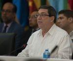 Bruno Rodríguez durante el discurso inaugural. Foto: Ladyrene Pérez/ Cubadebate.