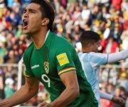 Marcelo Martins marcó el segundo gol de Bolivia. Foto: AFP.