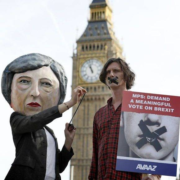 El Brexit ha generado decenas de protestas en Reino Unido. Foto: AP.